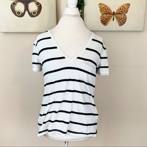 Madewell striped top | size large